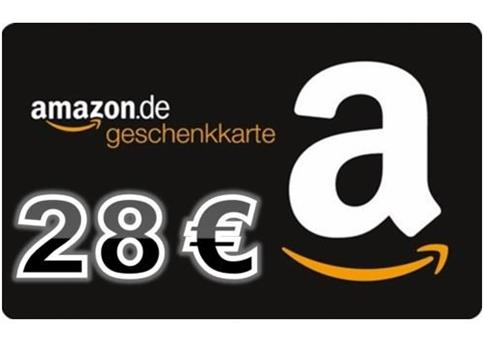 28€ Amazon Gutschein für 3,90€