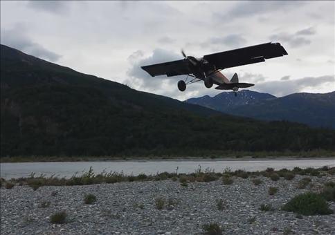 Flugzeuglandung in Alaska