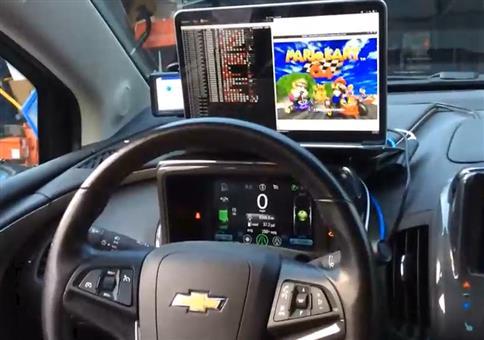 Mario Kart 64 im Auto spielen