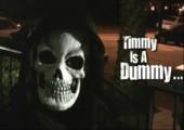 Spass zu Halloween mit einem Dummy