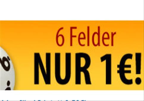 Lotto: 6 Felder für nur 1€!