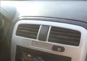 Auto mit starker Klimaanlage