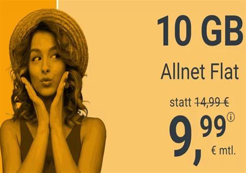 winSIM: Allnet-Flat im O2-Netz mit 10GB LTE für 9,99€ mtl.
