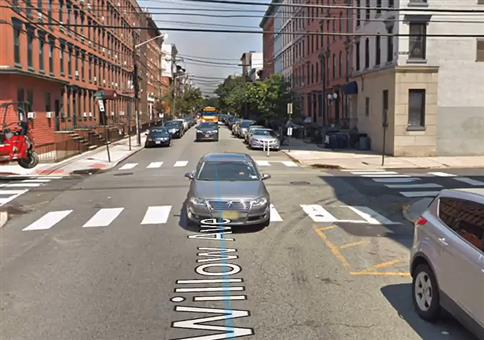 Der Treppenfall bei Google Street View