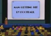 Football in die Eier - Simpsons Edition
