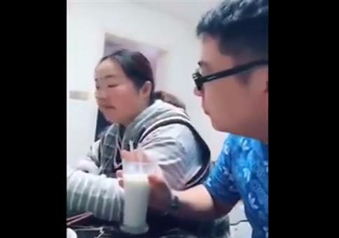 Ganz romantisch die Milch teilen