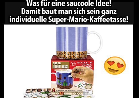 Super Mario Becher zum selbst gestalten