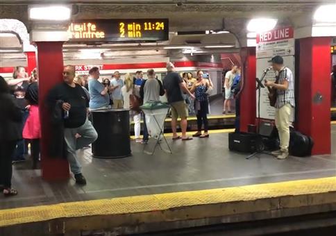 Stimmung in Bostoner Subway Station