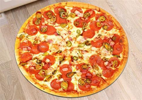 Pizza für den Fußboden