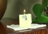 Kerze aus Butter basteln - Für den Notfall