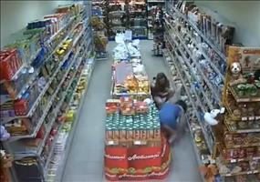 Ein ganz normaler Tag in einem russischen Supermarkt