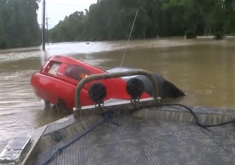Rettung in letzter Sekunde bei Hochwasser