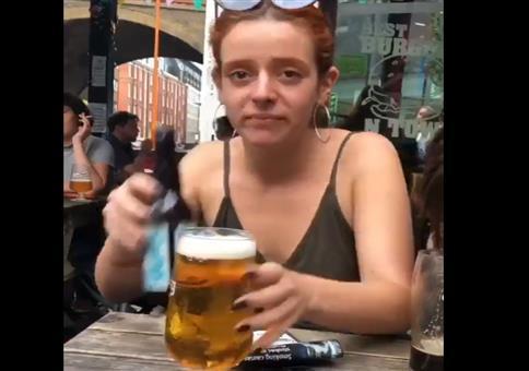 Frau und Bier - Doppel Fail