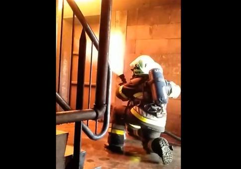 Angriff der Flammen von oben