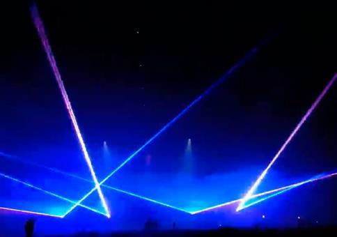 Extreme Lasershow beim Pukkelpop Festival in Belgien