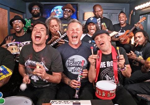 Metallica bei Jimmy Fallon: Enter Sandman auf Kinderinstrumenten