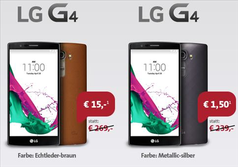 *Kracher* LG G4 + GRATIS Allnet-Flat + 750MB!