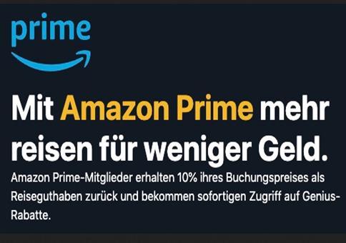 Reise für mind. 700€ buchen + 1 Jahr Amazon Prime gratis
