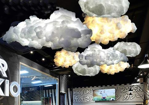 Nette Wolkenbeleuchtung
