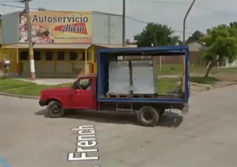 Dufte Ladungssicherung bei Google Maps entdeckt