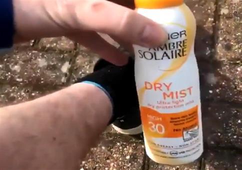 Sonnenöl für die Beine