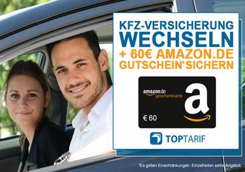 60€ Amazon Gutschein bei Kfz-Versicherungswechsel