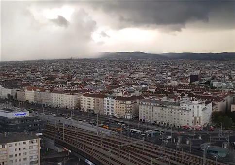 Regen über Wien
