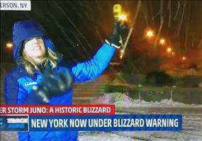 Videobomb durch den Winterdienst in den Nachrichten
