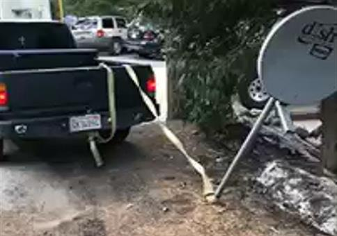 Das Satellitenschüssel Katapult
