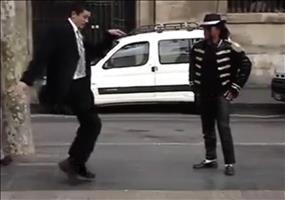 Mormone vs. Michael Jackson Straßenkünstler