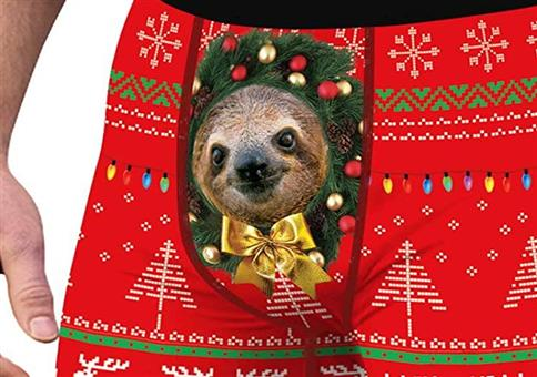 Faultier Ugly Christmas Boxer Shorts