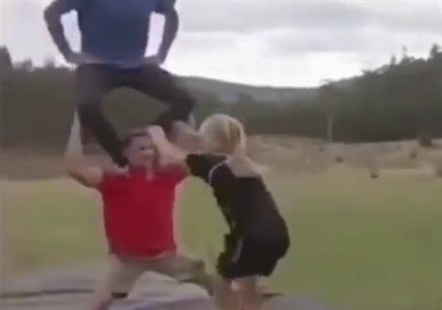 Durchs Loch springen