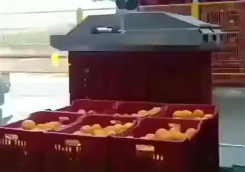 Orangenkisten blitzschnell leeren
