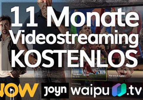 11 Monate Videostreaming kostenlos