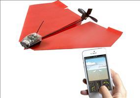 Smartphone gesteuerter Elektrobausatz für Papierflugzeuge