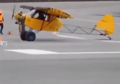 Nur ein Hubschrauber braucht noch weniger Landebahn