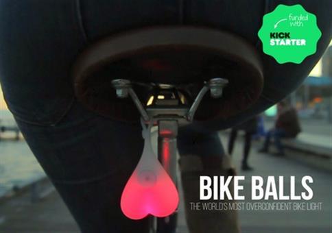 Bike Balls - Der leuchtende Hoden fürs Fahrrad