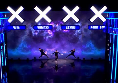 Tanzperformance zu Animation bei Mongolia's Got Talent 2016