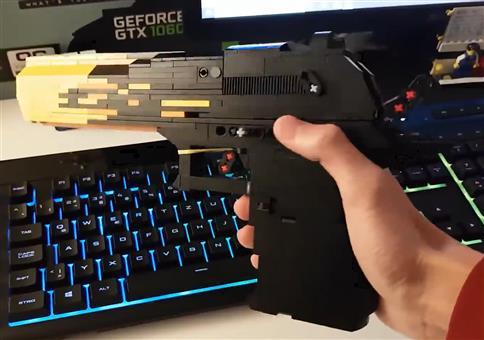 Fette Pistole aus Lego