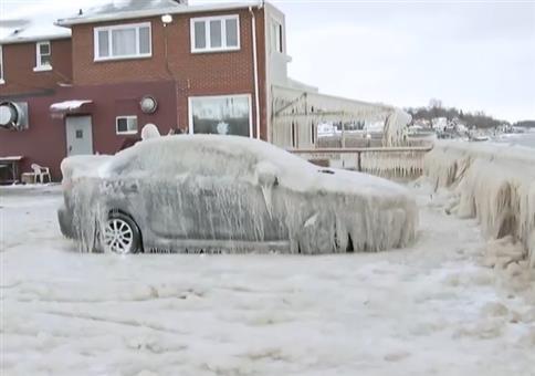 Autos so richtig eingefroren