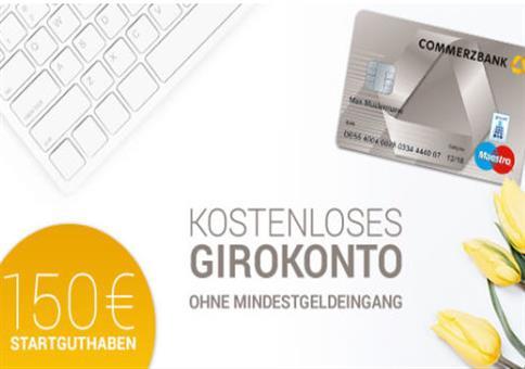 Kostenloses Girokonto + 150€ geschenkt!