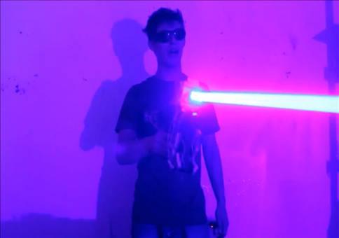 Selbstgebaut Laserkanone