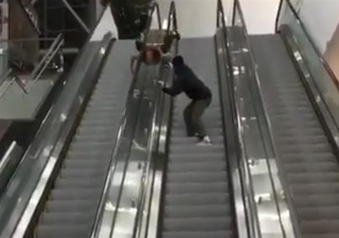 Rolltreppen Stunt endlich mal geglückt