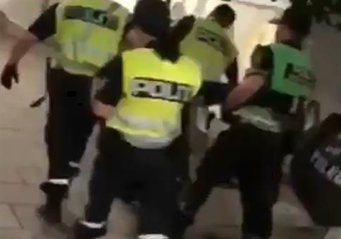 Von der Polizei zum Fliegen gebracht