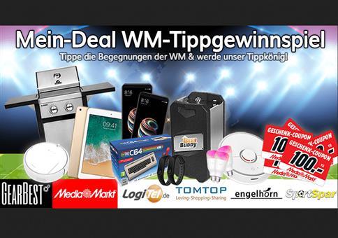 Mein-Deal.com WM Tipp Gewinnspiel mit fetten Preisen