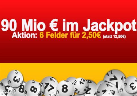 Hammer: 90 Mio € Jackpot mit dickem Rabatt!
