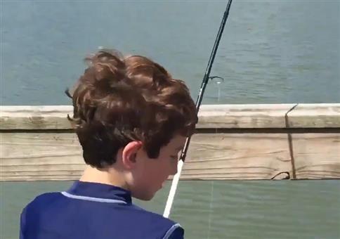 Riesenfisch am Haken