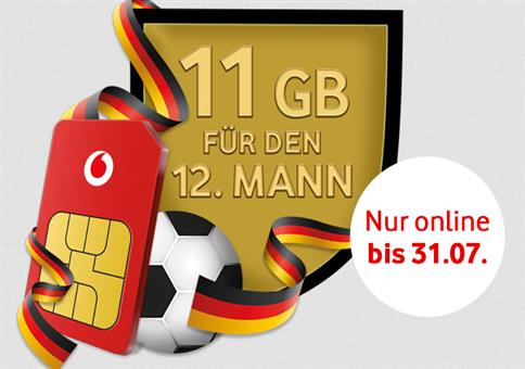 Vodafone CallYa Prepaidkarte + 11GB Datenvolumen gratis
