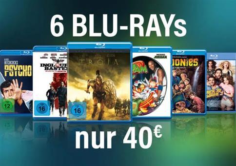 6 Blu-rays für 40€ bei Amazon (6,66€ pro Titel)