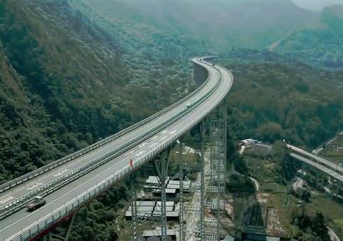 Straßenbau in China